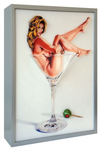 Mel RAMOS - Scultura Volume - Martini Miss #1