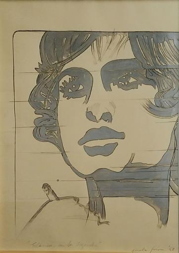 Giosetta FIORONI - Peinture - Elenia con la sigaretta