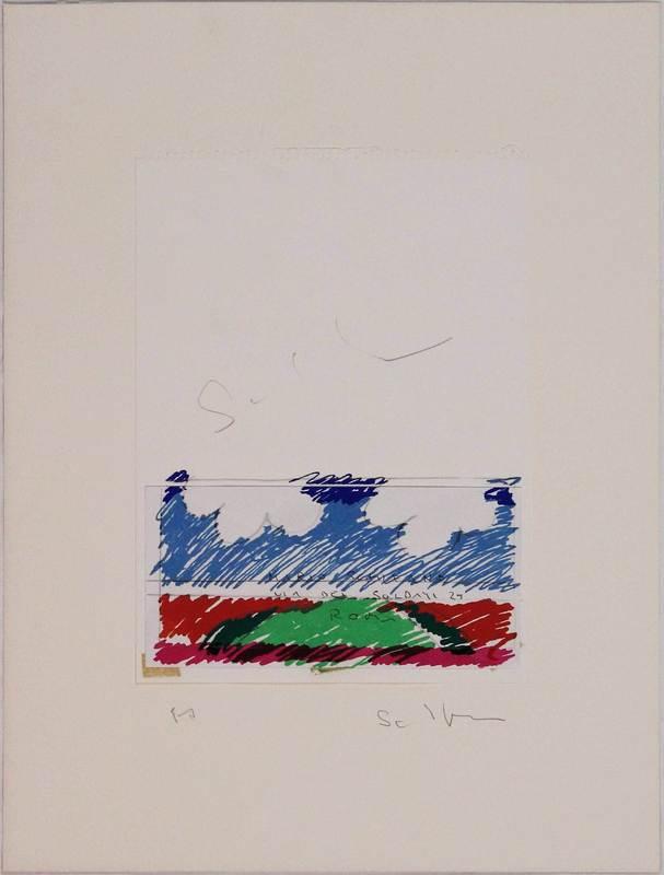 Mario SCHIFANO - Druckgrafik-Multiple - Paesaggio