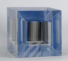Jesús Rafael SOTO - Escultura - Cube with Ambiguous Space