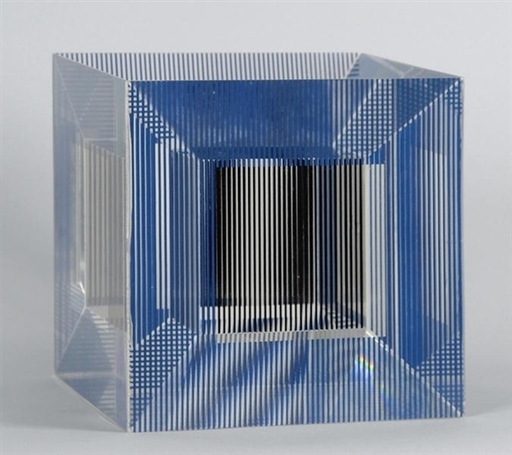Jesús Rafael SOTO - Scultura Volume - Cube with Ambiguous Space