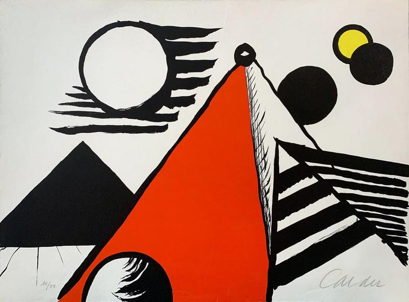 Alexander CALDER - Grabado - Pyramide Rouge