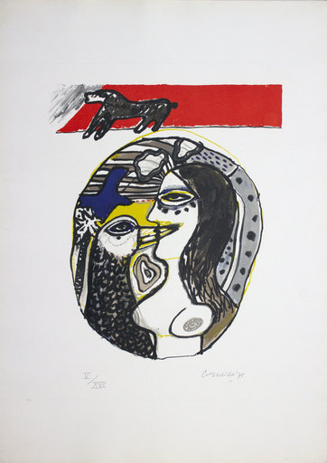 CORNEILLE - Estampe-Multiple - Dialogo con l'uccello