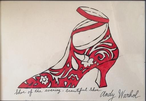 Andy WARHOL - Disegno Acquarello - SHOE OF THE EVENING, BEAUTIFUL SHOE