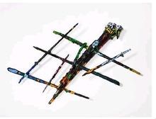 Robert COMBAS - Sculpture-Volume - Personnage pinceaux