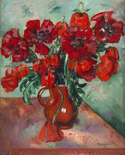 亨利·夏尔·芒更 - 绘画 - Grand vase de pavots