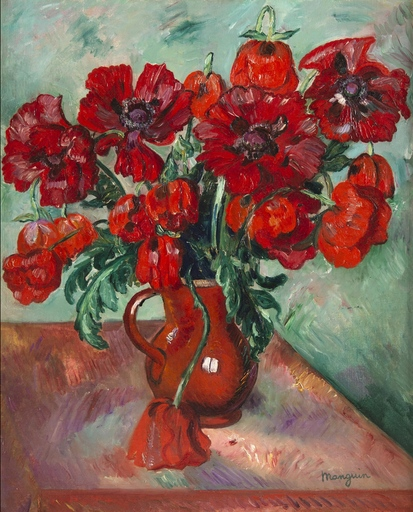 Henri MANGUIN - Painting - Grand vase de pavots