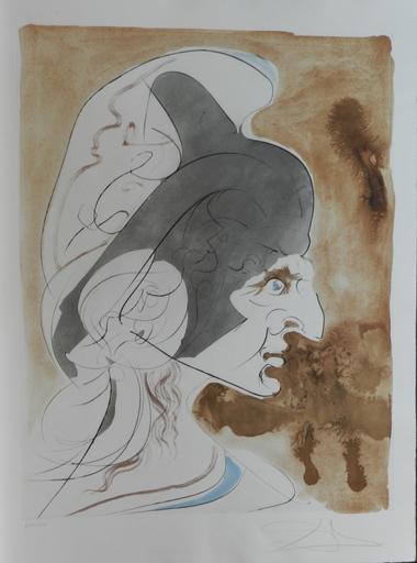 Salvador DALI - Grabado - Homage a Leonardo Condottiere