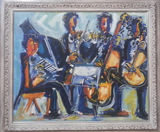José María BARREIRO - Pintura - músicos