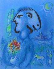 Marc CHAGALL (1887-1985) - The Blue Village (Second State) | Le Village Bleu (2e état)