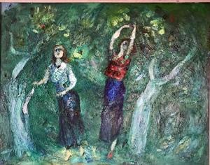 Silvestras DSHJAUKSCHTAS - Painting - Dan le vieux jardin