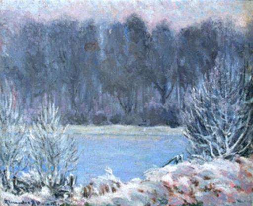 Alexander ALTMANN - 绘画 - Winter Landscape
