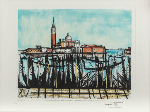 Bernard BUFFET - Estampe-Multiple - Venise
