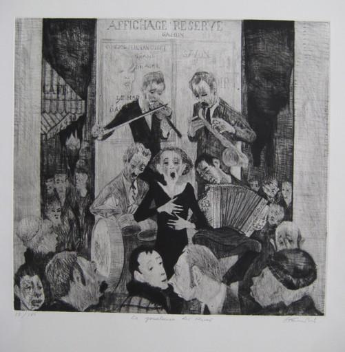 Auguste Jean GAUDIN - Grabado - GRAVURE PIAF SIGNÉE CRAYON NUM/150 HANDSIGNED NUMB ETCHING