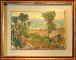 Dante BERTINI - Pintura - Campagna veneta