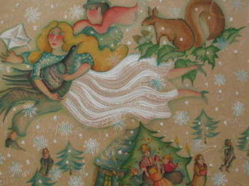 Françoise DEBERDT - 版画 - Isba et amoureux,1986.