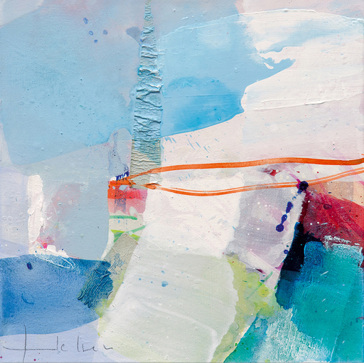 Greet HELSEN - Painting - Verträumte Landschaft