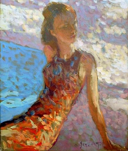 Eugène BEGARAT - Pintura - Bord de piscine