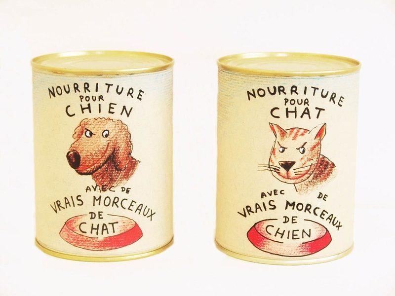 Miller LEVY - Estampe-Multiple - Nourriture pour chien et nourriture pour chat