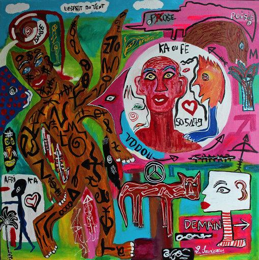 Lionel SOURISSEAU - Pittura - L'esprit du vent