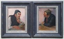 Konstantin STOITZNER - Painting - Two Oil Paintings by Konstantin Stoitzner, ca 1900