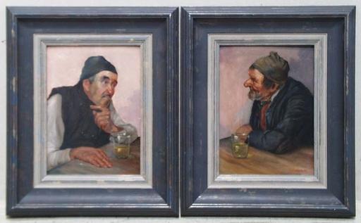 Konstantin STOITZNER - Peinture - Two Oil Paintings by Konstantin Stoitzner, ca 1900