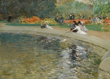 Childe HASSAM - Painting - In the park