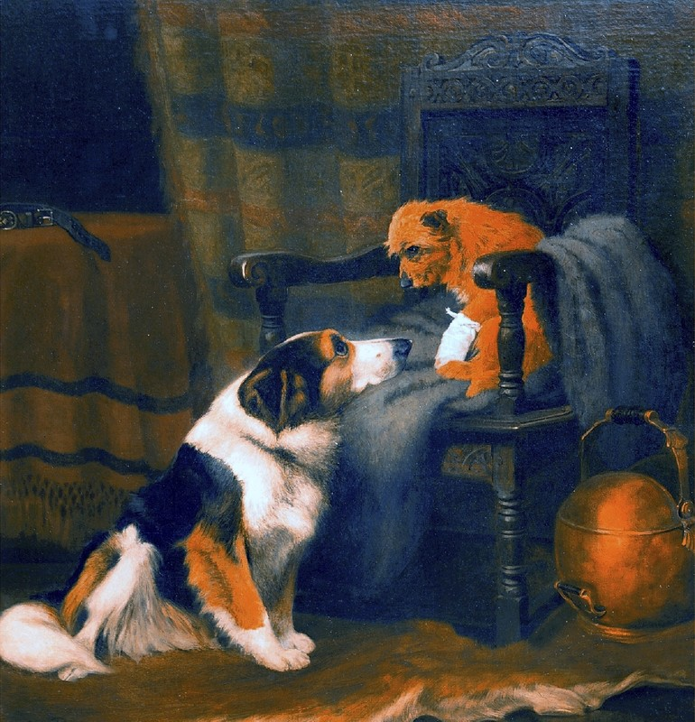 Arthur BATT - Painting - A Woeful Companion