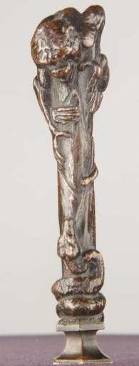 Emmanuel FRÉMIET - Escultura - Cachet au Singe et Serpent