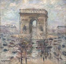 Gustave LOISEAU - Painting - L'Arc de Triomphe, Place de l'Étoile