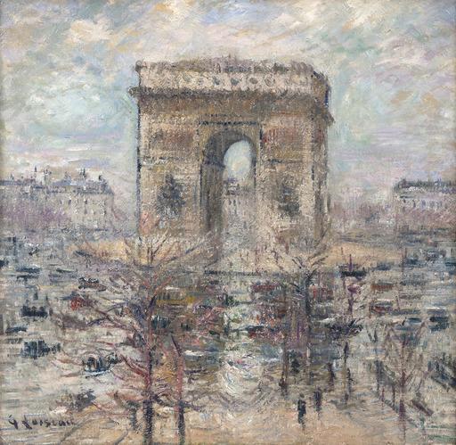 Gustave LOISEAU - Pintura - L'Arc de Triomphe, Place de l'Étoile
