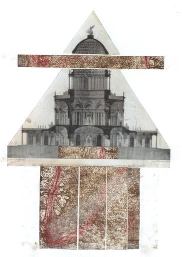 Dores SACQUEGNA - Painting - Studio sull'antico - Monumento a Bernini