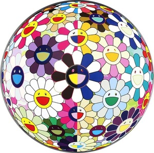 Takashi MURAKAMI, Flowerball (3D) From The Realm of The Dead