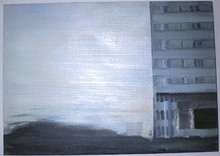 Matthias MEYER - Peinture - Rhine Shore I
