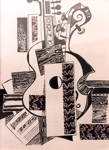 Moncho BORRAJO - Zeichnung Aquarell - MUSICA
