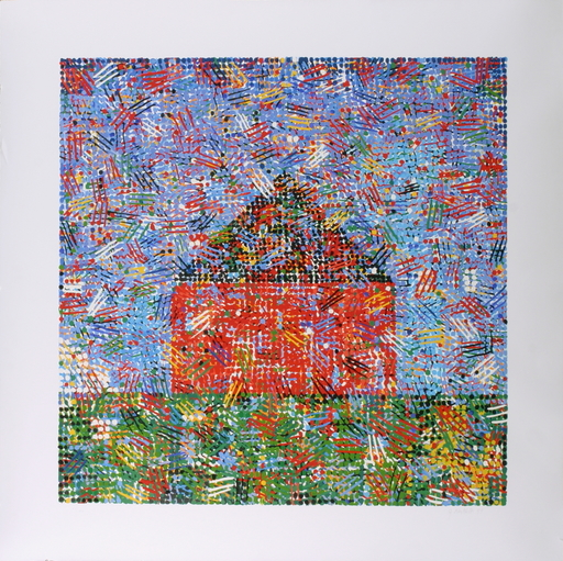 Jennifer Losch BARTLETT - Estampe-Multiple - House, Dots, Hatches