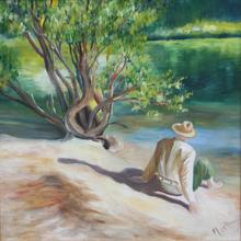 Brigitte THONHAUSER-MERK - Pintura - Ruhe am See