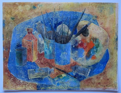 Tony AGOSTINI - Drawing-Watercolor - DESSIN À LA GOUACHE SIGNÉ MAIN HANDSIGNED GOUACHE DRAWING