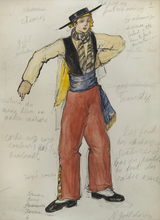 Nathalie GONTCHAROVA (1881-1962) - Costume for a Male Dancer, Bolero