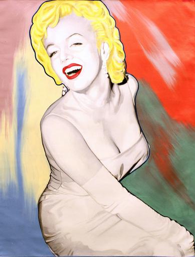 Steve KAUFMAN - Pintura - Marilyn - Dior Look (No Bottle)
