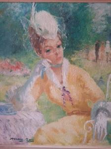Marguerite AERS - Pintura - Une parisienne