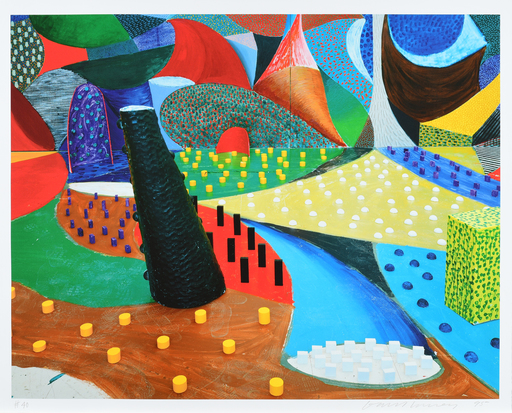 David HOCKNEY - Stampa-Multiplo - Second Detail, Snails Space, March 25th 1995