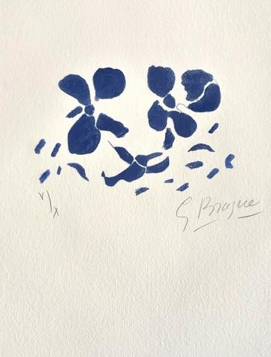 Georges BRAQUE - Grabado - Fleurs Bleues, from Si je mourais là-bas