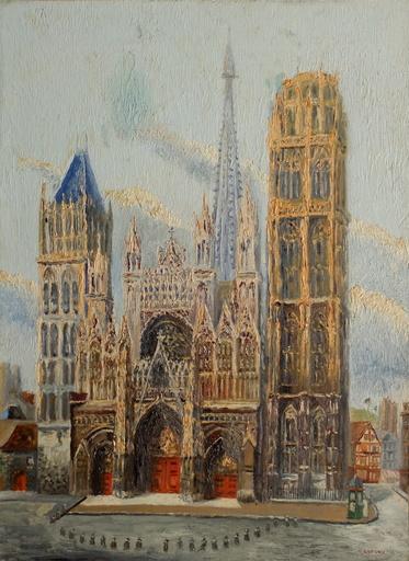Bernard LANGRUNE - Pintura - La cathédrale de Rouen