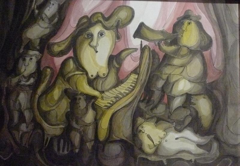 Reinaldo ECKENBERGER - Dessin-Aquarelle - Jazz