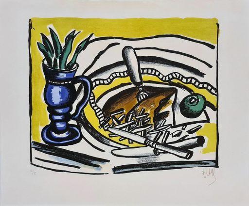 Fernand LÉGER - Druckgrafik-Multiple - Nature morte au vase bleu