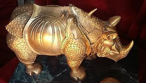 Salvador DALI - Sculpture-Volume - Rhinoceros Habille en Dentelles