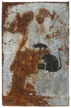 BANKSY - Peinture - Travelling Rat