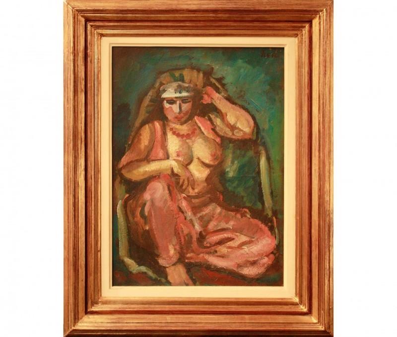 Iosif ISER - Painting - Odalisque