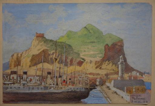 "François Marie DE MARLIAVE - Drawing-Watercolor - ""PALERME"""